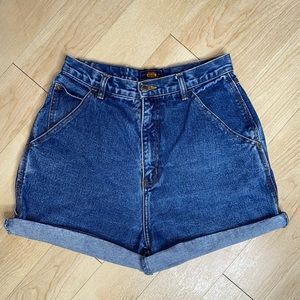 Vintage Route 66 90's High Waisted Denim Shorts